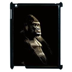 Gorilla  Apple Ipad 2 Case (black) by Valentinaart