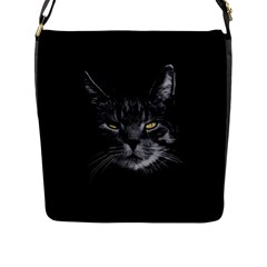 Domestic Cat Flap Messenger Bag (l)  by Valentinaart
