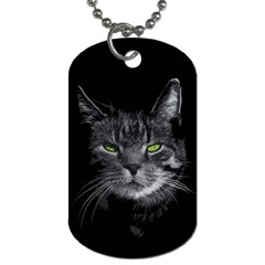 Domestic Cat Dog Tag (two Sides) by Valentinaart