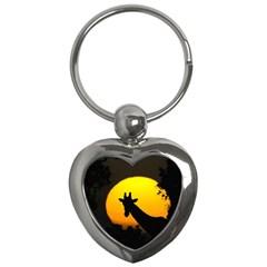 Giraffe  Key Chains (heart)  by Valentinaart