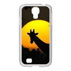 Giraffe  Samsung Galaxy S4 I9500/ I9505 Case (white) by Valentinaart