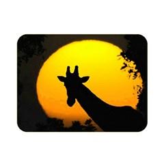 Giraffe  Double Sided Flano Blanket (mini)  by Valentinaart