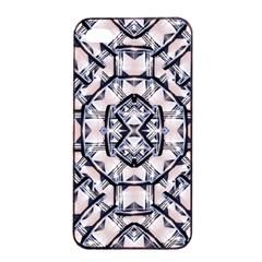 Futuristic Geo Print Apple Iphone 4/4s Seamless Case (black) by dflcprints