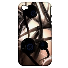 Connection Shadow Background  Apple Iphone 4/4s Hardshell Case (pc+silicone) by amphoto