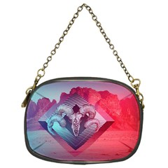 Horns Background Cube  Chain Purses (two Sides)  by amphoto