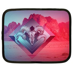Horns Background Cube  Netbook Case (xxl)  by amphoto