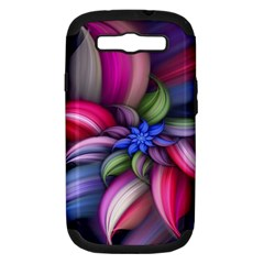 Flower Rotation Form  Samsung Galaxy S Iii Hardshell Case (pc+silicone) by amphoto