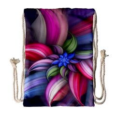 Flower Rotation Form  Drawstring Bag (large) by amphoto
