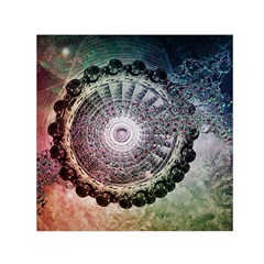 Circle Figures Background  Small Satin Scarf (square) by amphoto