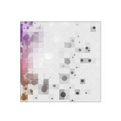 Squares Colorful Spots  Satin Bandana Scarf by amphoto