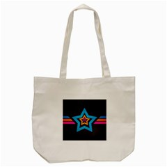 Star Background Colorful  Tote Bag (cream) by amphoto