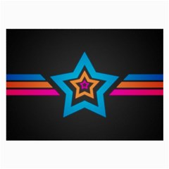 Star Background Colorful  Large Glasses Cloth by amphoto