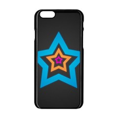 Star Background Colorful  Apple Iphone 6/6s Black Enamel Case by amphoto