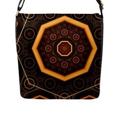Light Surface Lines  Flap Messenger Bag (l)  by amphoto