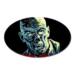 Zombie Oval Magnet by Valentinaart