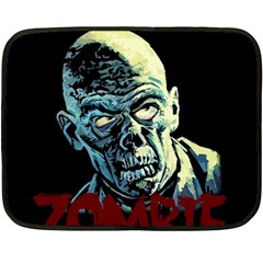 Zombie Fleece Blanket (mini) by Valentinaart