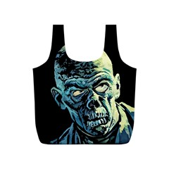 Zombie Full Print Recycle Bags (s)  by Valentinaart