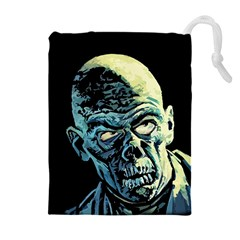 Zombie Drawstring Pouches (extra Large) by Valentinaart