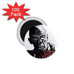 Zombie 1 75  Magnets (100 Pack)  by Valentinaart
