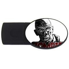 Zombie Usb Flash Drive Oval (4 Gb) by Valentinaart