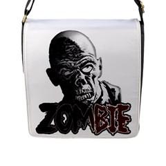 Zombie Flap Messenger Bag (l)  by Valentinaart