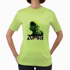 Zombie Women s Green T Shirt by Valentinaart