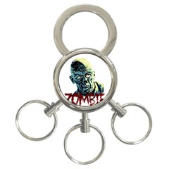 Zombie 3 Ring Key Chains by Valentinaart