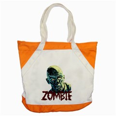 Zombie Accent Tote Bag by Valentinaart