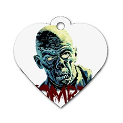Zombie Dog Tag Heart (one Side) by Valentinaart