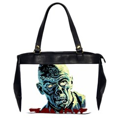 Zombie Office Handbags (2 Sides)  by Valentinaart