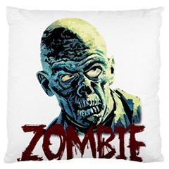 Zombie Large Cushion Case (one Side) by Valentinaart