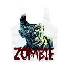 Zombie Full Print Recycle Bags (m)  by Valentinaart