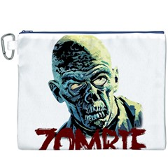 Zombie Canvas Cosmetic Bag (xxxl) by Valentinaart
