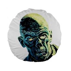 Zombie Standard 15  Premium Round Cushions by Valentinaart
