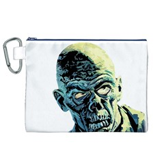 Zombie Canvas Cosmetic Bag (xl) by Valentinaart