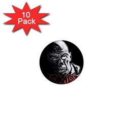 Zombie 1  Mini Magnet (10 Pack)  by Valentinaart