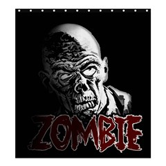 Zombie Shower Curtain 66  X 72  (large)  by Valentinaart