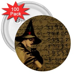 Witchcraft Vintage 3  Buttons (100 Pack)  by Valentinaart