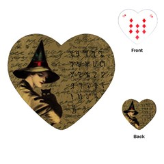 Witchcraft Vintage Playing Cards (heart)  by Valentinaart