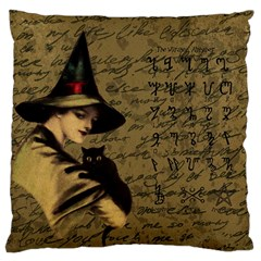 Witchcraft Vintage Large Cushion Case (one Side) by Valentinaart