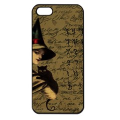Witchcraft Vintage Apple Iphone 5 Seamless Case (black) by Valentinaart