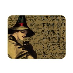 Witchcraft Vintage Double Sided Flano Blanket (mini)  by Valentinaart