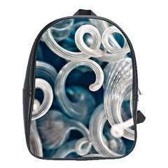 Spiral Glass Abstract  School Bag (xl) by amphoto