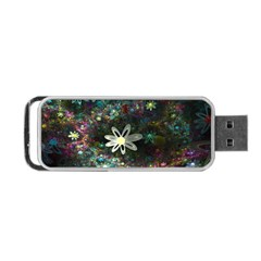 Flowers Fractal Bright 3840x2400 Portable Usb Flash (two Sides) by amphoto