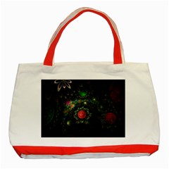 Shapes Circles Flowers  Classic Tote Bag (red) by amphoto