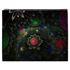 Shapes Circles Flowers  Cosmetic Bag (xxxl)  by amphoto