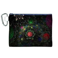 Shapes Circles Flowers  Canvas Cosmetic Bag (xl) by amphoto