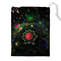 Shapes Circles Flowers  Drawstring Pouches (xxl) by amphoto