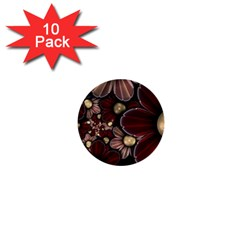 Flower Background Line 1  Mini Buttons (10 Pack)  by amphoto