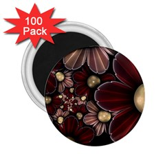 Flower Background Line 2 25  Magnets (100 Pack)  by amphoto